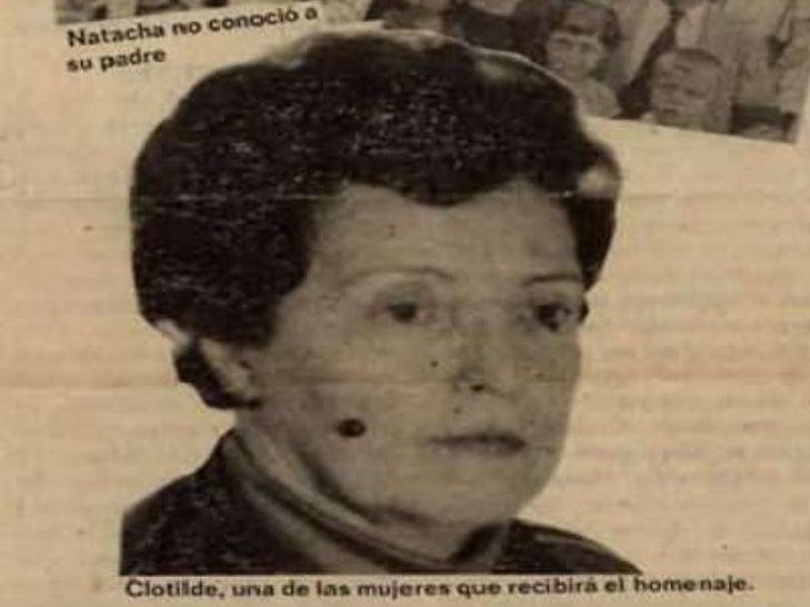 Luchadora hasta su último día…<br />Clotilde Ballesteros<br />