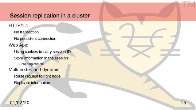 TM 1501/02/20 Session replication in a clusterSession replication in a clusterSession replication in a clusterSession repl...
