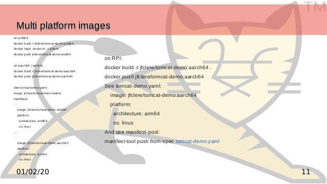 TM 1101/02/20 Multi platform imagesMulti platform imagesMulti platform imagesMulti platform images on amd64: docker build ...