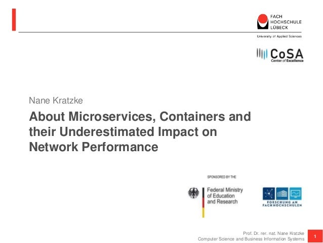 About Microservices, Containers and their Underestimated Impact on Network Performance Nane Kratzke 1 Prof. Dr. rer. nat. ...