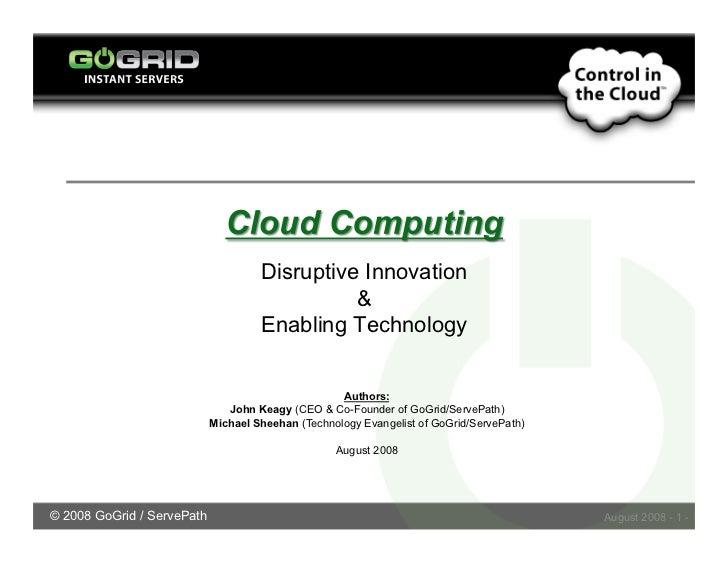 Disruptive Innovation                                                                                      Enabling Techno...