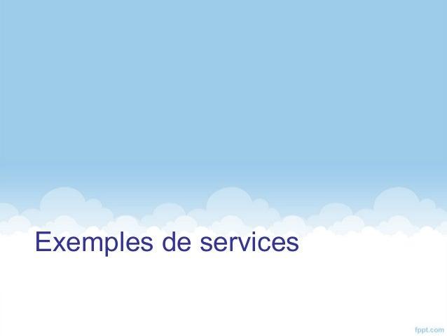 Exemples de services