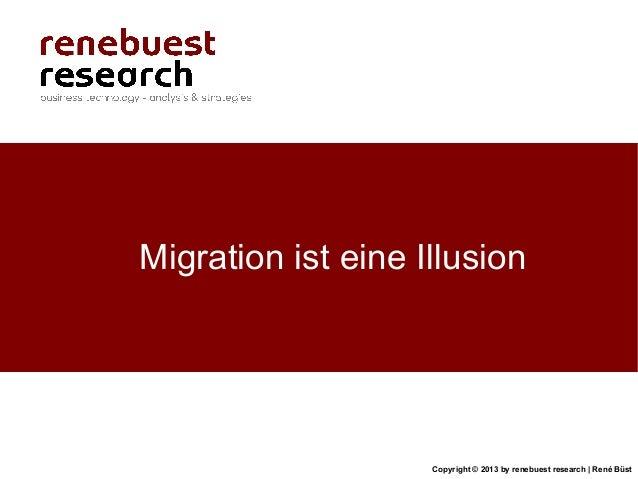 Copyright © 2013 by renebuest research   René BüstMigration ist eine Illusion