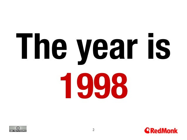 2 The year is 1998
