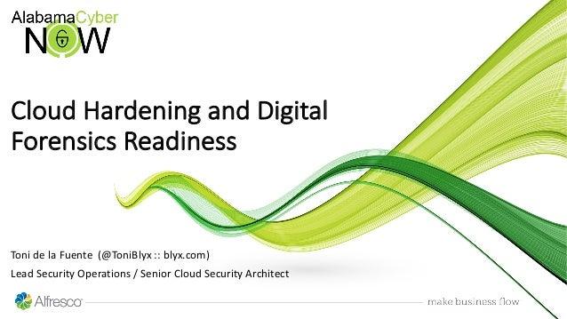 Toni de la Fuente (@ToniBlyx :: blyx.com) Lead Security Operations / Senior Cloud Security Architect Cloud Hardening and D...