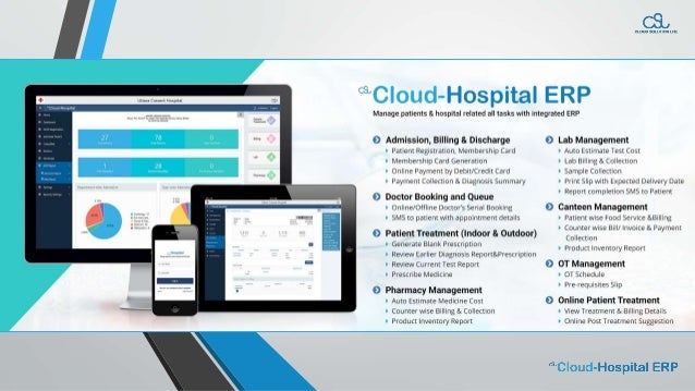 Manage patients & hospital related all tasks with integrated ERP
