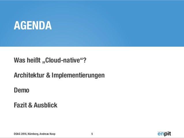 Cloud Native Apps Architektur Implementierung Demo