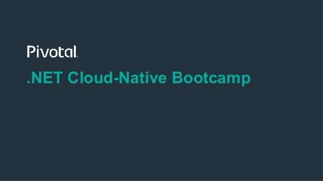 .NET Cloud-Native Bootcamp