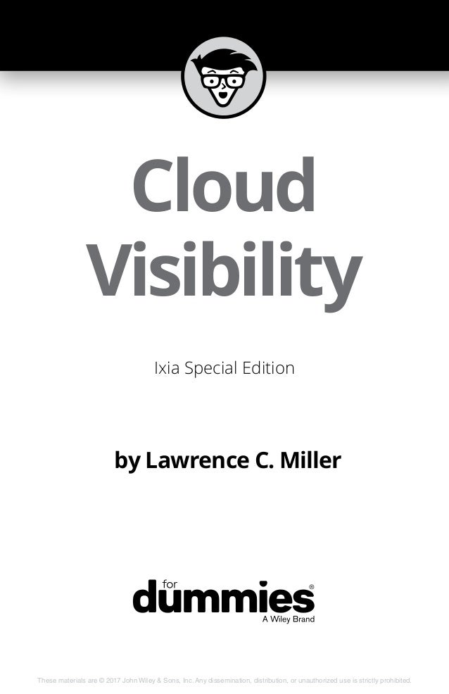 Cloud Visibility for Dummies от IXIA