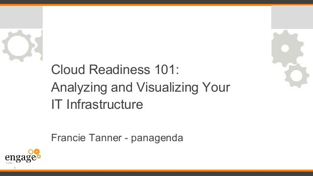 Cloud Readiness 101: Analyzing and Visualizing Your IT Infrastructure Francie Tanner - panagenda 1
