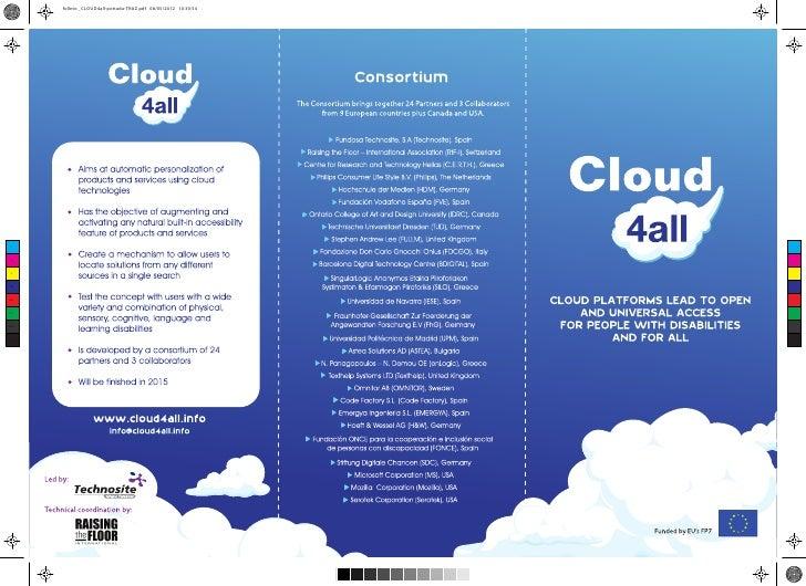 folleto _CLOUD4all-portada-TRAZ.pdf 08/05/2012 10:30:54 C M YCMMYCYCMY K