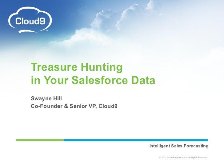 Treasure Hunting                in Your Salesforce Data                Swayne Hill                Co-Founder & Senior VP, ...