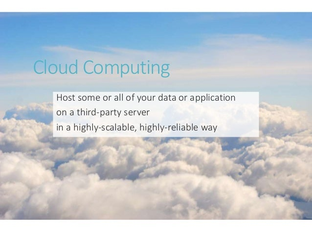 Cloud and azure and rock and roll Slide 3