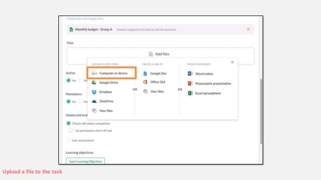 Cloud integration in itslearning (o a  Office 365, Google Drive & Dro…