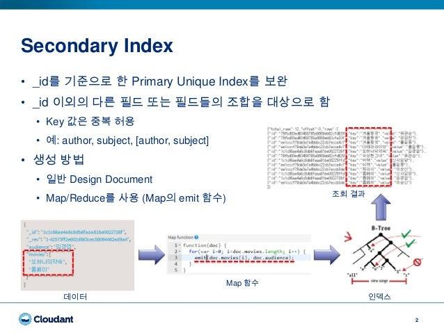 Cloudant Indexes (Korean) Slide 2