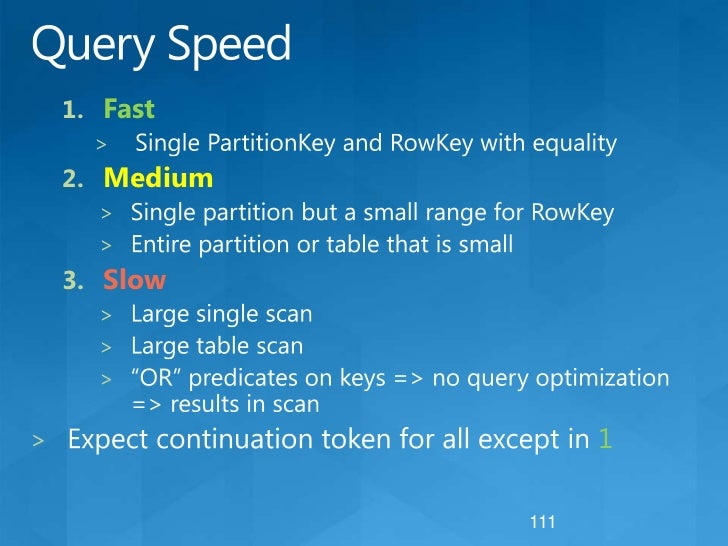 Key Selection: Things to Consider<br />Scalability<br />Distribute load as much as possible<br />Hot partitions can be loa...