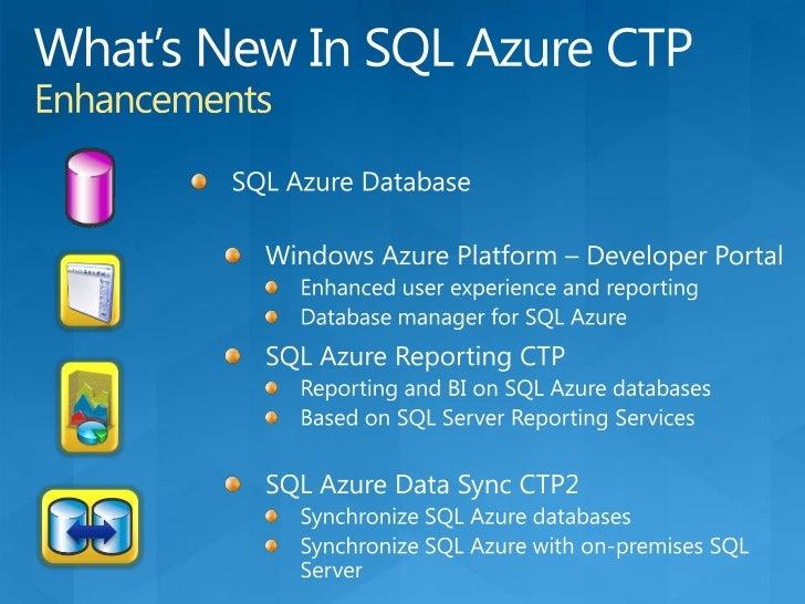 SQL Azure DatabaseUsing one or multiple databases<br />SQL Azure Database<br />Database<br />Application<br />Max database...