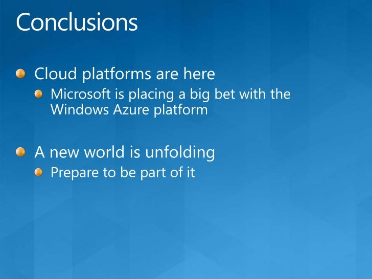 Windows Azure Platform PricingA summary (in US dollars)<br />Compute: $0.12 to $0.96/hour for each role instance depending...