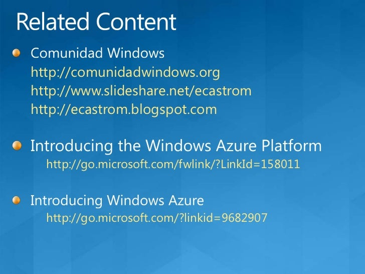 Service Level AgreementsKey points: Windows Azure compute<br />When you deploy two or more role instances in different fau...