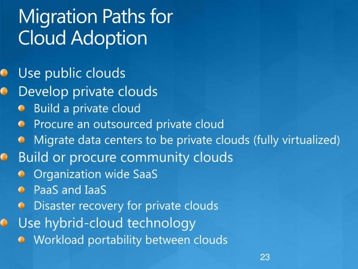 The 'Why' and 'How' of Cloud Migration<br />There are many benefits that explain why to migrate to clouds<br />Cost saving...