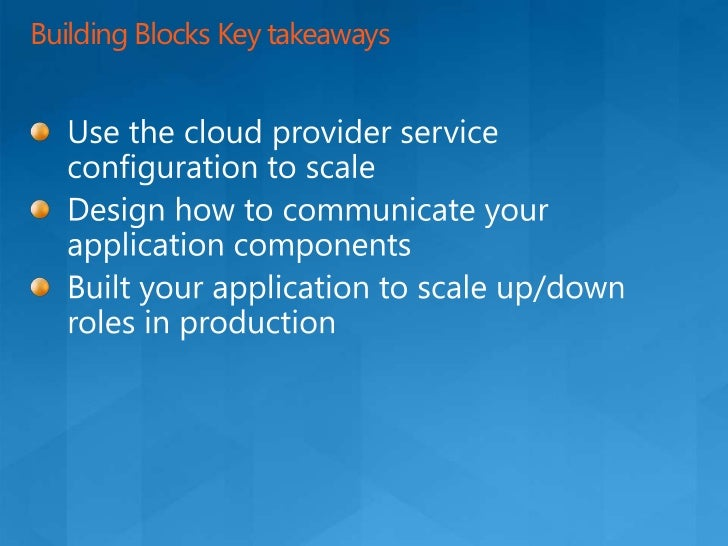 N-Tier Application Transition<br />Presentation<br />Business<br />Move to the cloud<br />On Premises<br />Data Access<br ...