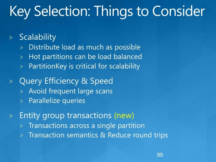 Windows Azure StorageTables: Challenges<br />No SQL<br />A new approach for developers to learn<br />No aggregates<br />Ac...