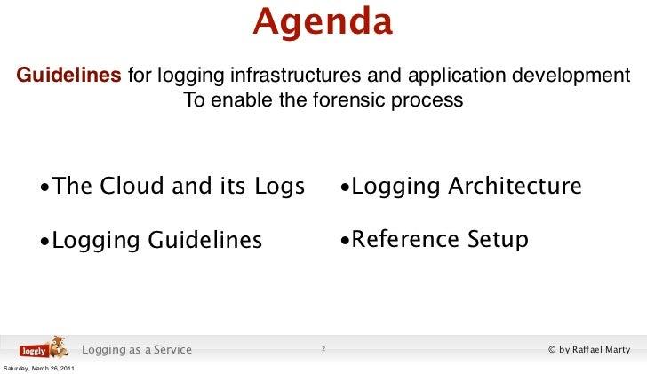 Cloud Application Logging for Forensics Slide 2