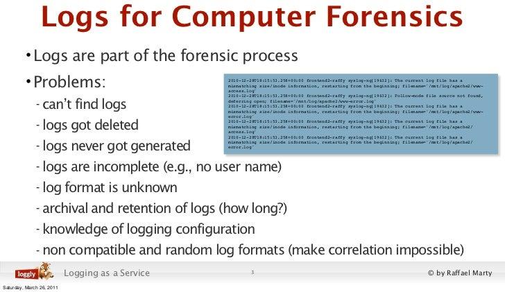 Cloud Application Logging for Forensics Slide 3