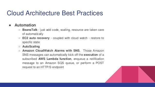 Cloud Architecture Best Practices