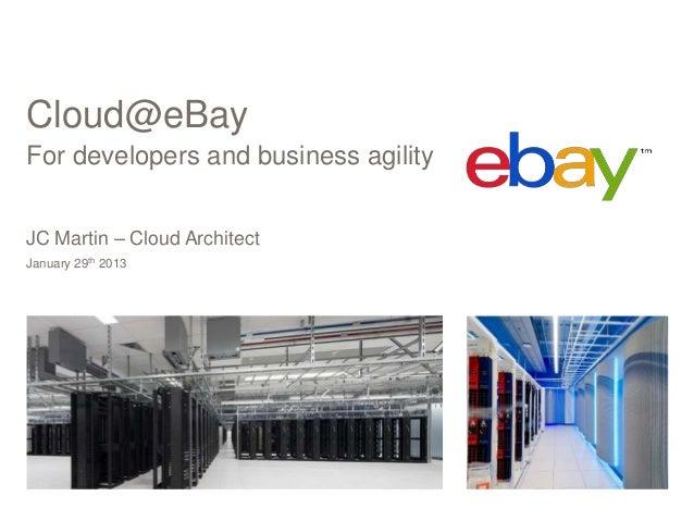 Cloud@eBayFor developers and business agilityJC Martin – Cloud ArchitectJanuary 29th 2013