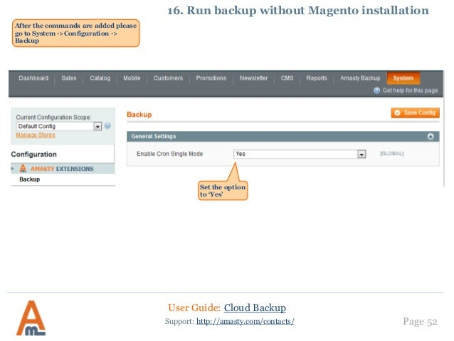 Cloud Backup by Amasty  User Guide/