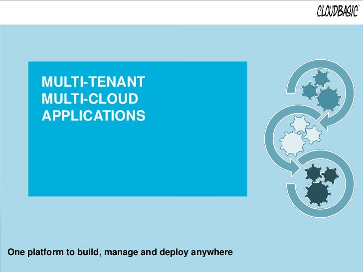 MULTI-TENANT       MULTI-CLOUD       APPLICATIONSOne platform to build, manage and deploy anywhere