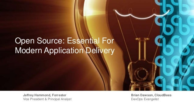Open Source: Essential For Modern Application Delivery Jeffrey Hammond, Forrester Vice President & Principal Analyst Brian...