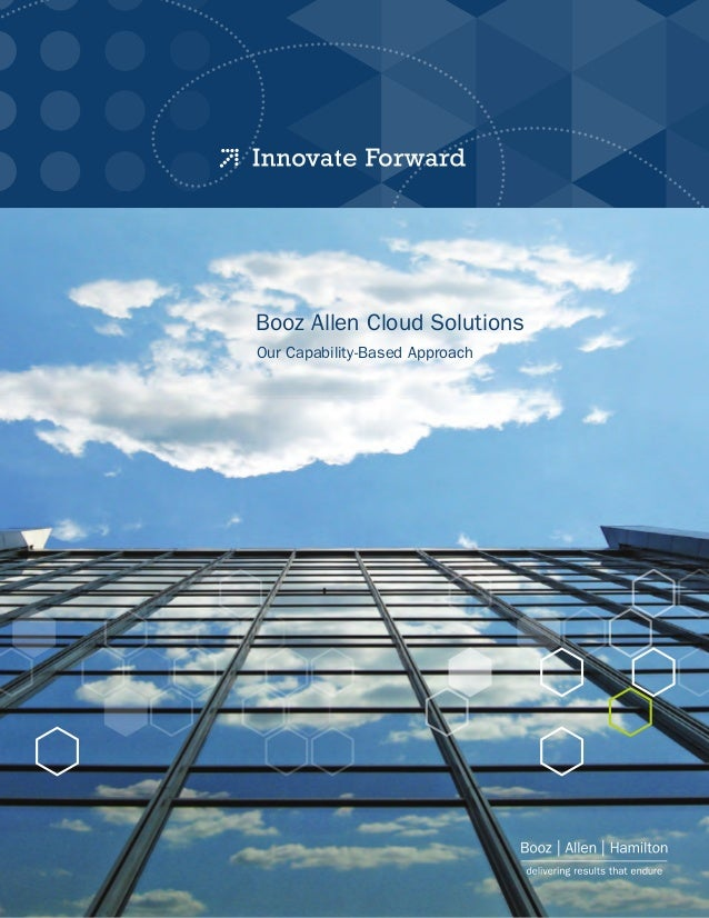 Booz Allen Cloud Solutions Our Capability-Based Approach