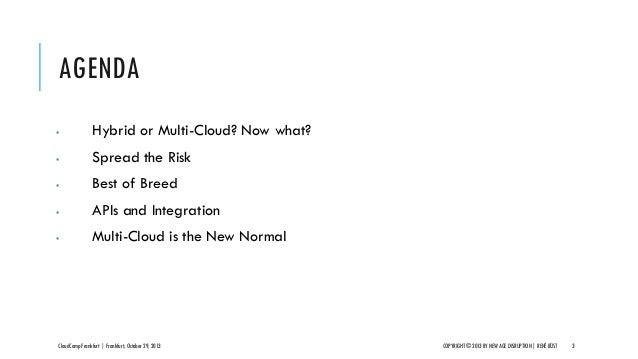 CloudCamp Frankfurt 2013 - Multi-Cloud is The New Normal Slide 3