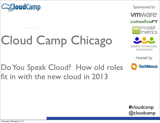Sponsored byCloud Camp Chicago                                      Hosted byDo You Speak Cloud? How old rolesfit in with t...