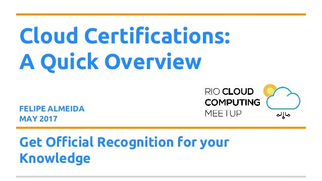 Cloud Certifications - Overview