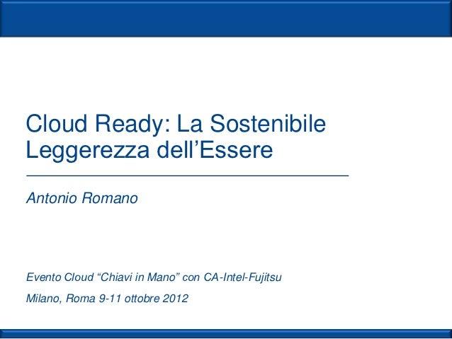 Il Cloud chiavi in mano | Antonio Romano | Milano
