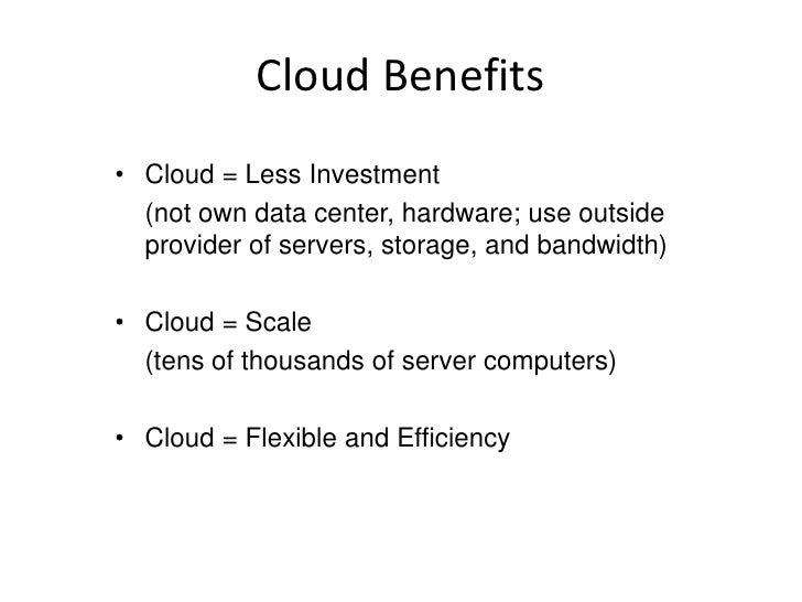  From On-Premise to Cloud Platforms          Application runs   Application runs    Application        on-premises       ...