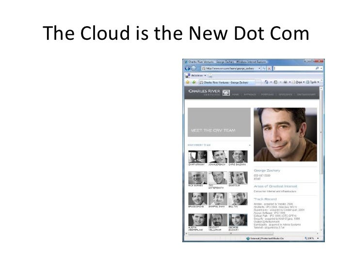 The Cloud is the New Dot Com