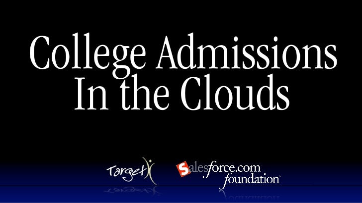 College Admissions   In the Clouds