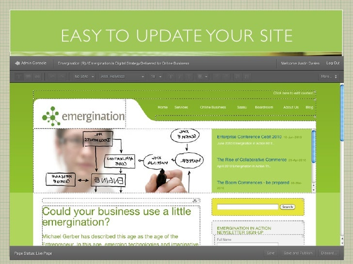 EASY TO UPDATE YOUR SITE                           emergination