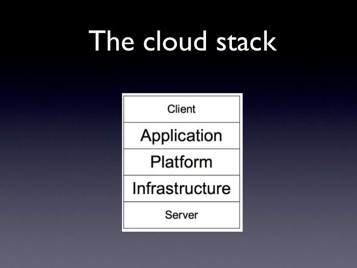 The cloud stack