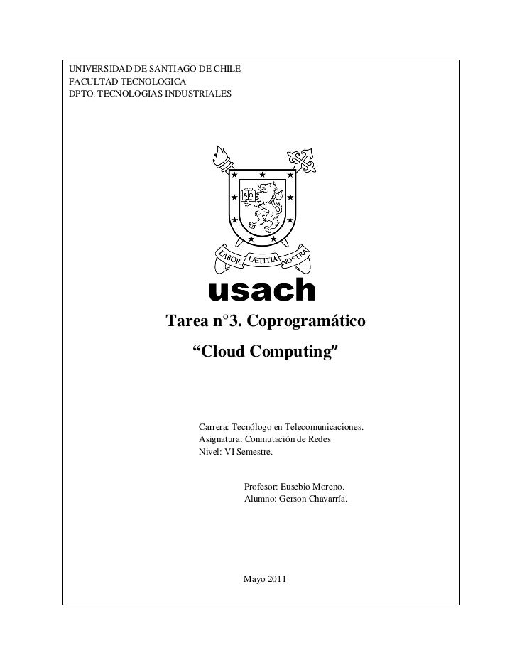 UNIVERSIDAD DE SANTIAGO DE CHILEFACULTAD TECNOLOGICADPTO. TECNOLOGIAS INDUSTRIALES                  Tarea n°3. Coprogramát...