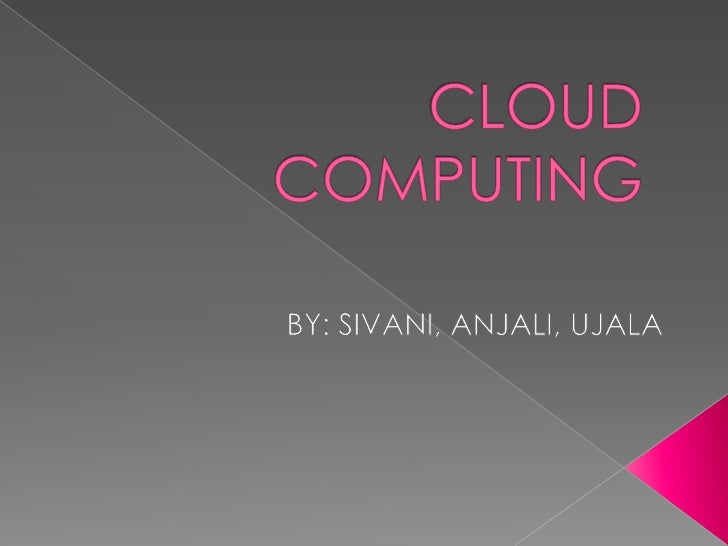 """ Cloud  technology is being written. Music is played in the background. At the end I say """"Cloud Technology""""."""
