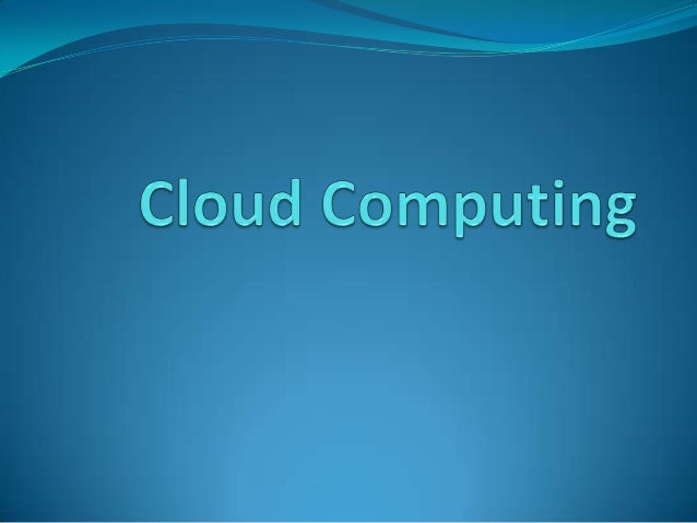 What is Cloud Computing Cloud computing is an emerging computing technology that uses theinternet and central remote serv...