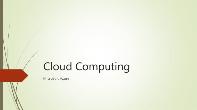 Cloud Computing Microsoft Azure