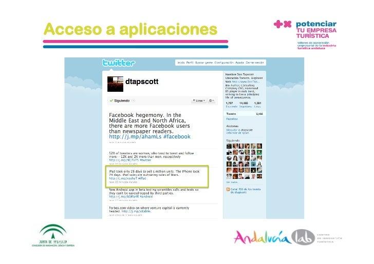 Acceso a aplicaciones     1/6/10   DepartamentodeMarke2ng‐Socialtec   11