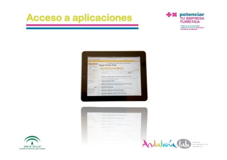 Acceso a aplicaciones     1/6/10   DepartamentodeMarke2ng‐Socialtec   12