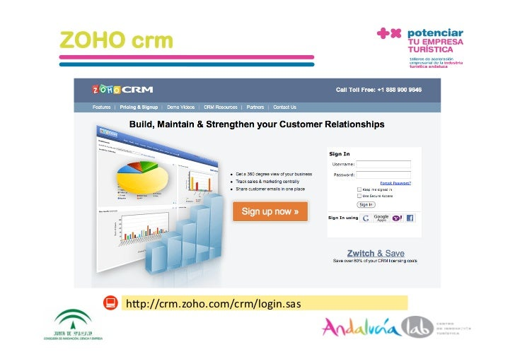 ZOHO crm               hAp://crm.zoho.com/crm/login.sas  1/6/10       DepartamentodeMarke2ng‐Socialtec   35